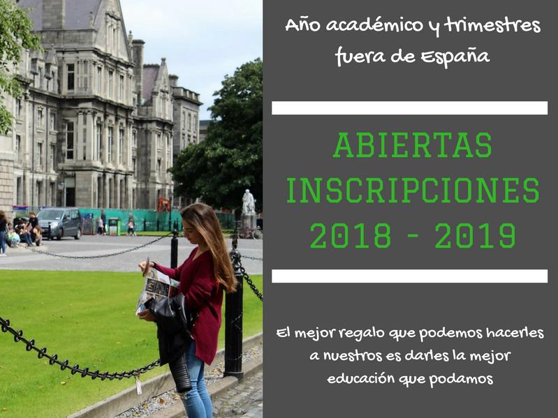 ABIERTAS INSCRIPCIONES2018 - 2019